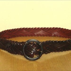 Accessories - WIDE BROWN WOVEN BELT**SZ SM/MED